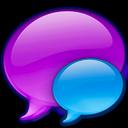 balloon, small, blue icon