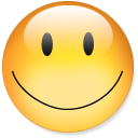 smile, emot, happy, emotion, fun, funny icon