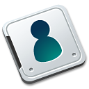 folder, contact icon