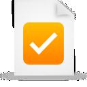 orange, file, paper, document icon