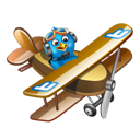 fly, twitter, plane icon