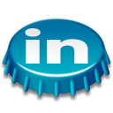 beer, linkedin, cap, beer cap icon