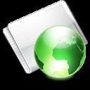 Folder Online lime icon