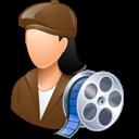 Female, Filmmaker, Light icon