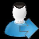 user arrow right icon