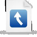 file, paper, blue, document icon
