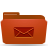 red, folder, mail icon
