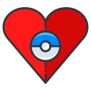 play, pokemon, game, go, favourite icon