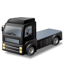 tractorunitblack, automobile, truck, transport, transportation, black, vehicle icon
