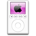 ipod, alternative, mp3 player, magenta icon