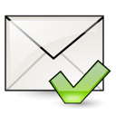 envelope, check, mail, mark, junk icon