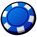 chip, blue icon