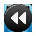 button, rew icon