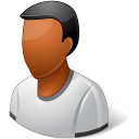 Person Male Dark icon