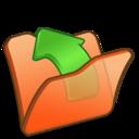 folder,orange,parent icon