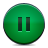 pause, button, green icon