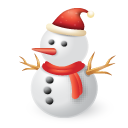 snowman, christmas icon