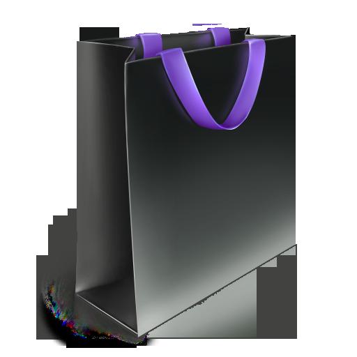 bag, violet icon