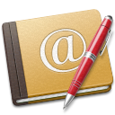 old, address, book, red icon