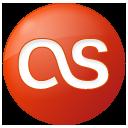 social, button, lastfm, last.fm, red icon