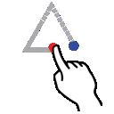 stroke, triangle, shape, gestureworks, up icon