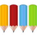 color, pens, pencils icon