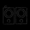 audio, sound, music, volume, up, speaker, mute icon