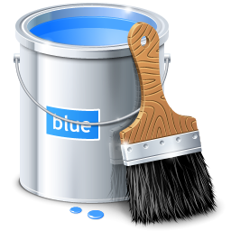 color, draw, paint, blue, painting, design icon