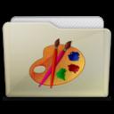 beige folder art icon