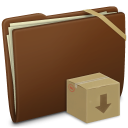 Brown Elastic Drop Box icon
