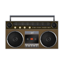 Boombox, Brown icon