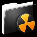 folder,burnable icon