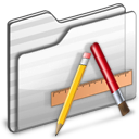 Applications Folder white icon