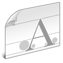 file, document, font, paper icon