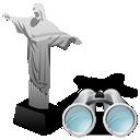 seek, search, find, cristoredentor icon