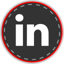 social, media, linked, in, online icon
