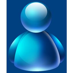 buddy, bleu icon