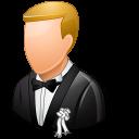 wedding, bridegroom, female icon