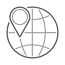 earth, globe, pin, map, gps, world, location icon