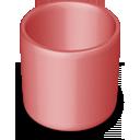 empty, recycle bin, red, trash, blank icon
