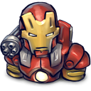 iron, chin, red, man icon