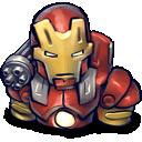 iron, chin, red, man icon