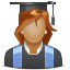 woman, lady, girl, user, student, pupil icon