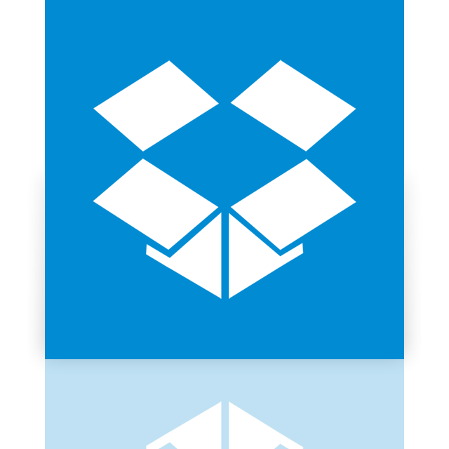dropbox, mirror icon