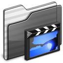 film, movie, video, folder, black icon