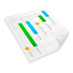 gant, plan, project, chart, graph icon