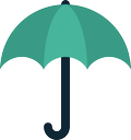 rain, umbrella, weather, forecast, protection icon