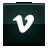 v, vimeo, social icon