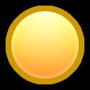 yellow, ball icon