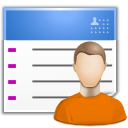 list, user chart, user, contact icon
